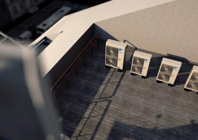 DAIKIN-Mini-VRV-Außengerät auf Balkon