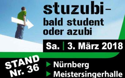STUZUBI: Besuchen Sie uns am 3. März 2018 am Stand 36