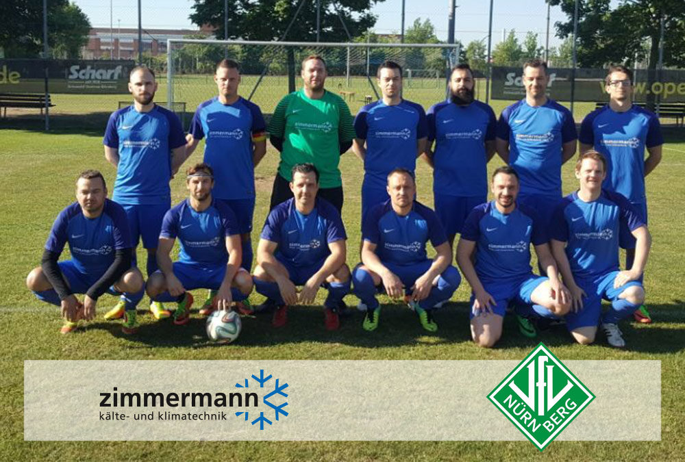"""ZIMMERMANN sponsert """"alte Herren"""" des VfL Nürnberg e.V."""