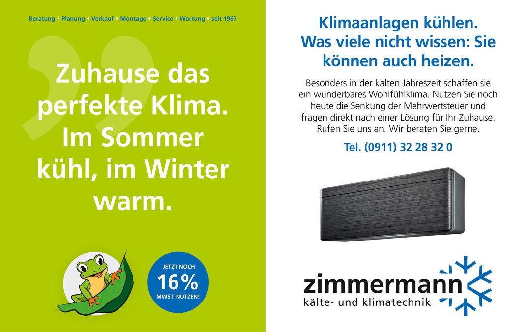 Zuhause das perfekte  Klima. Im Sommer kühl, im Winter warm.
